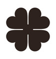 four leaf clover icon saint patrick symbol vector image
