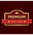Golden Premium label vector image vector image