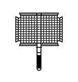 grilling basket vector image vector image