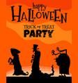 halloween holiday cartoon design with monsters vector image