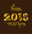 Happy new year 2018 design