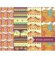 Hindu patterns set vector image vector image