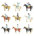 horse riding lessons vector image vector image