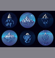iceberg in ocean set stickers a large vector image vector image