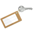 key with blank text label vector image vector image