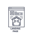 landing page line icon concept landing page vector image vector image