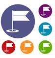 locator flag icons set vector image
