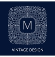 Luxury Vintage Blue Frame for Monogram vector image vector image