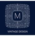 Luxury Vintage Blue Frame for Monogram vector image