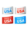 made in usa textile tags fashion label set vector image vector image
