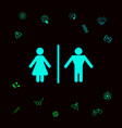man and woman icon graphic elements for your vector image