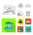 natural and disaster logo vector image vector image
