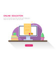 online education concept web page diploma vector image