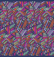pattern with tribal chaotic hand drawn lines vector image vector image
