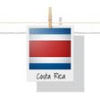photo costa rica flag vector image