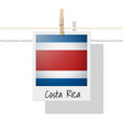 photo of costa rica flag vector image