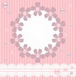 Pink card with pearls lace and flowers