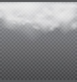 realistic white clouds or fog on transparent vector image vector image