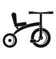 retro tricycle icon simple style vector image