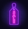 sale neon sign advertising board on dark vector image vector image