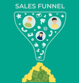 sales funnel flat vector image