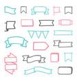 set hand drawn sketchy ribbons vector image vector image