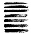 set of grunge brush strokes oil brushes vector image