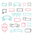 set of hand drawn sketchy ribbons vector image vector image