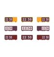 Set of retro flip alarm clocks vector image