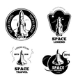 Space astronaut badges emblems and logos vector image vector image