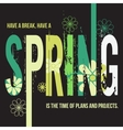 Spring typographic design poster vector image vector image