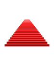 Stairs covered with red carpet Scene illuminated vector image vector image