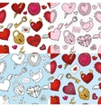 Valentine dayweddingloveheart seamless pattern vector image vector image