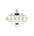 vintage retro bakery bake shop sticker label logo