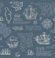 vintage seamless pattern on the theme of travel vector image