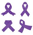 Violet awareness ribbons vector image vector image