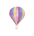 watercolor hot air balloon on white vector image vector image