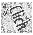 Ways to Identify and Tackle Click Fraud Word Cloud vector image vector image
