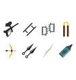 weapons icon set flat style vector image vector image