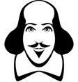 william shakespeare cartoon portrait in line art vector image vector image