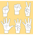 Human hands set vector image