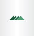 green sign mountain logo icon element vector image