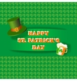 Happy St Patrick Day greeting card vector image