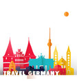 travel germany paper cut world monuments vector image