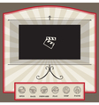 video interface template vector image