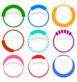 9 circular segmented circle preloader user vector image vector image