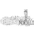 a taste of moroccan way of life inside the villas vector image vector image