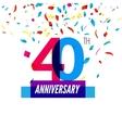 anniversary design 40th icon vector image