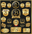 anniversary retro vintage golden badges and vector image