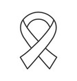 anti hiv ribbon linear icon fighting against aids vector image